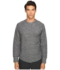 Todd Snyder Heather Double Knit Long Sleeve Charcoal Heather 2 Men's T Shirt Gray