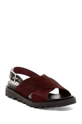 Marc By Marc Jacobs Gramercy Genuine Calf Hair Sandal Red