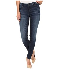 Kut From The Kloth Mia Toothpick Five Pocket Skinny Jeans In Appeal W Dark Stone Base Wash Appeal Dark Stone Base Wash Women's Jeans Blue