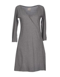 Douuod Short Dresses Grey