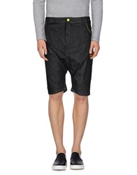 Love Moschino Denim Denim Bermudas Men Black