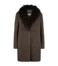 Fabiana Filippi Fur Collar Coat Female Neutral