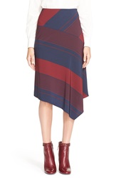 Tory Burch Bias Cut Stripe A Line Midi Skirt Lyon Vertical