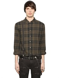 Blk Dnm Plaid Cotton Flannel Shirt