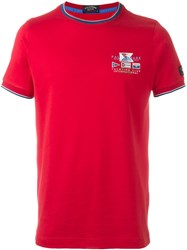 Paul And Shark Front Logo T Shirt Red