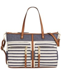 Tommy Hilfiger Woven Rugby Convertible Satchel