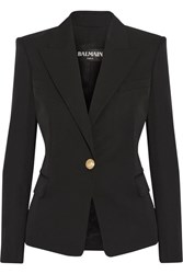 Balmain Wool Twill Blazer Black