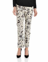 424 Fifth Floral Dress Pants Gardenia