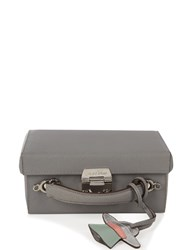 Mark Cross Grace Small Leather Box Bag Grey