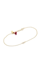 Shashi Solitaire Bracelet Gold Clear
