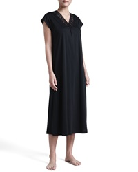 Hanro Moments Gown Black Small 8 10