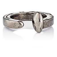 Giles And Brother Men's Railroad Spike Ring Dark Grey