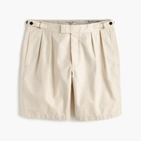 J.Crew Wallace And Barnes Double Pleated Short In Seeded Canvas Seeded Natural Canvas