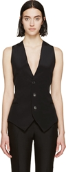 Cnc Costume National Black Silk Vest