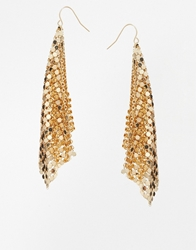 Asos Chainmail Earrings Gold