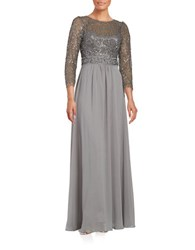 Decode 1.8 Illusion Cocktail Gown Silver