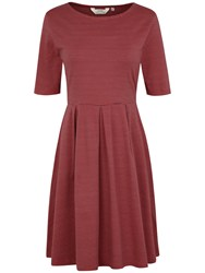 Seasalt St Enodoc Stripe Dress Narrows Rust