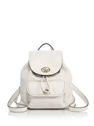 Coach Mini Leather Turnlock Backpack White Canary Black