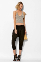 Staring At Stars Cropped Knit Harem Pant Black
