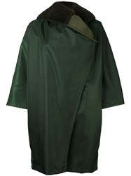 Max Mara Hooded Coat Green