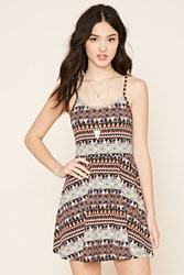 Forever 21 Caged Geo Print Skater Dress