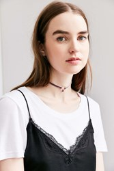 Urban Outfitters Delicate Circle Choker Necklace Purple
