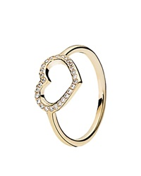 Pandora Design Pandora Ring 14K Gold And Cubic Zirconia Captured Heart