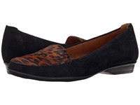 Naturalizer Saban Black Suede Cheetah Women's Slip On Shoes
