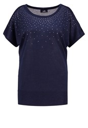 Wallis Print Tshirt Ink Blue