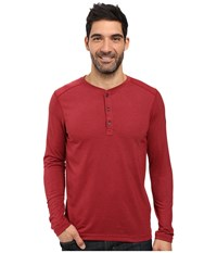 The North Face Long Sleeve Crag Henley Biking Red Dark Heather Men's Clothing