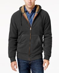 Weatherproof Vintage Men's Big And Tall Faux Sherpa Lined Hoodie Only At Macy's Beluga