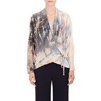Tie Dyed Wrap Front Cardigan Multi