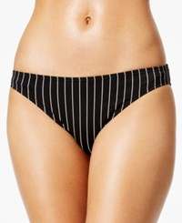 Vince Camuto Striped Hipster Bikini Bottoms Women's Swimsuit Black