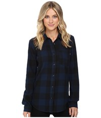 Vans Moody Blues Ii Flannel Dress Blues Women's Clothing Navy