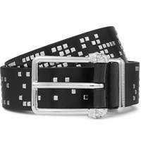 Alexander Mcqueen Black 3Cm Studded Leather Belt Black