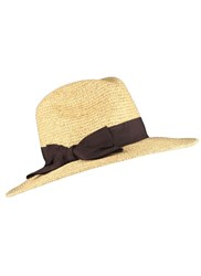 Dents Ladies Fedora Style Paperstraw Hat Natural
