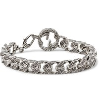 Gucci Rhodium Plated Chain Bracelet Silver