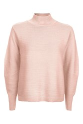 Topshop Tall Cocoon Horizontal Sweat Top Pale Pink