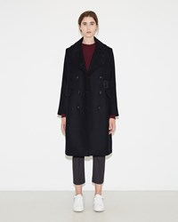 Sacai Melton Wool Coat Navy