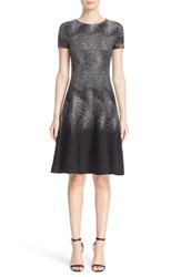 St. John Women's Collection Metallic Palm Jacquard Dress