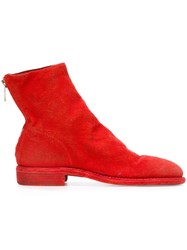 Guidi Linen Lined Boots Red