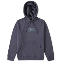 Stussy New Stock Applique Hoody Blue