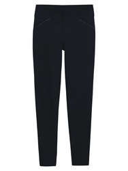 Mango Decorative Trim Leggings Black