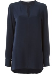 Joseph Tunic Blouse Blue