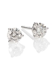 Kwiat Diamond And Platinum Stud Earrings 0.7 Tcw