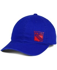 Old Time Hockey Women's New York Rangers Quick Stick Adjustable Cap Royalblue