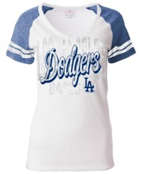 5Th And Ocean Women's Los Angeles Dodgers White Hot T Shirt