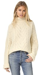 Apiece Apart Valle Vidal Turtleneck Sweater Ivory