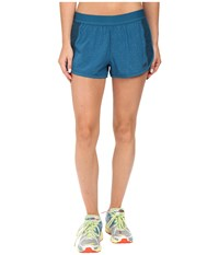 New Balance Mixed Media Shorts Castaway Women's Shorts Green
