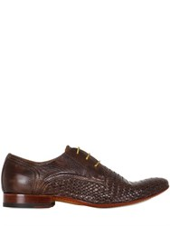 Ve.Ni. Shoes Woven And Washed Leather Derby